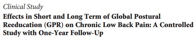 artigo cientifico fisioterapia rpg dor nas costas dor lombar