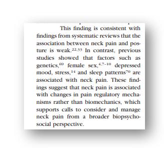dor no pescoço é biopsicossocial