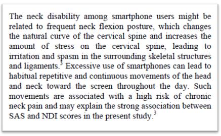 flexao do pescoço postura ruim no celular