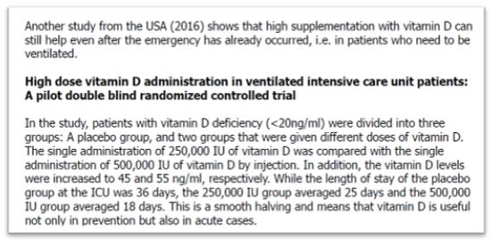 vitamina D em pacientes ventilados artigo cientifico